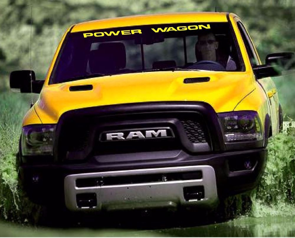 Dodge ram power wagon windshield decal ebay motors for Ebay motors commercial truck parts