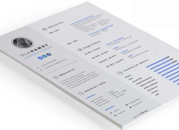 Clean interactive resume Computer Science Degree Pinterest