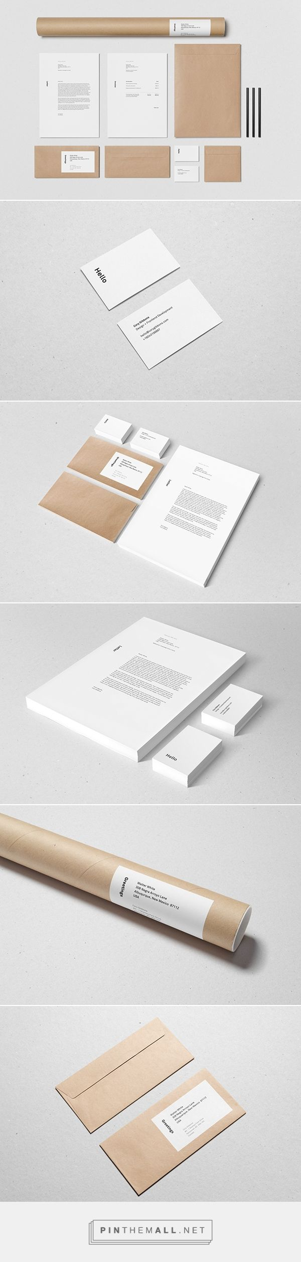 Personal Stationery On Behance  Created Via HttpsPinthemall