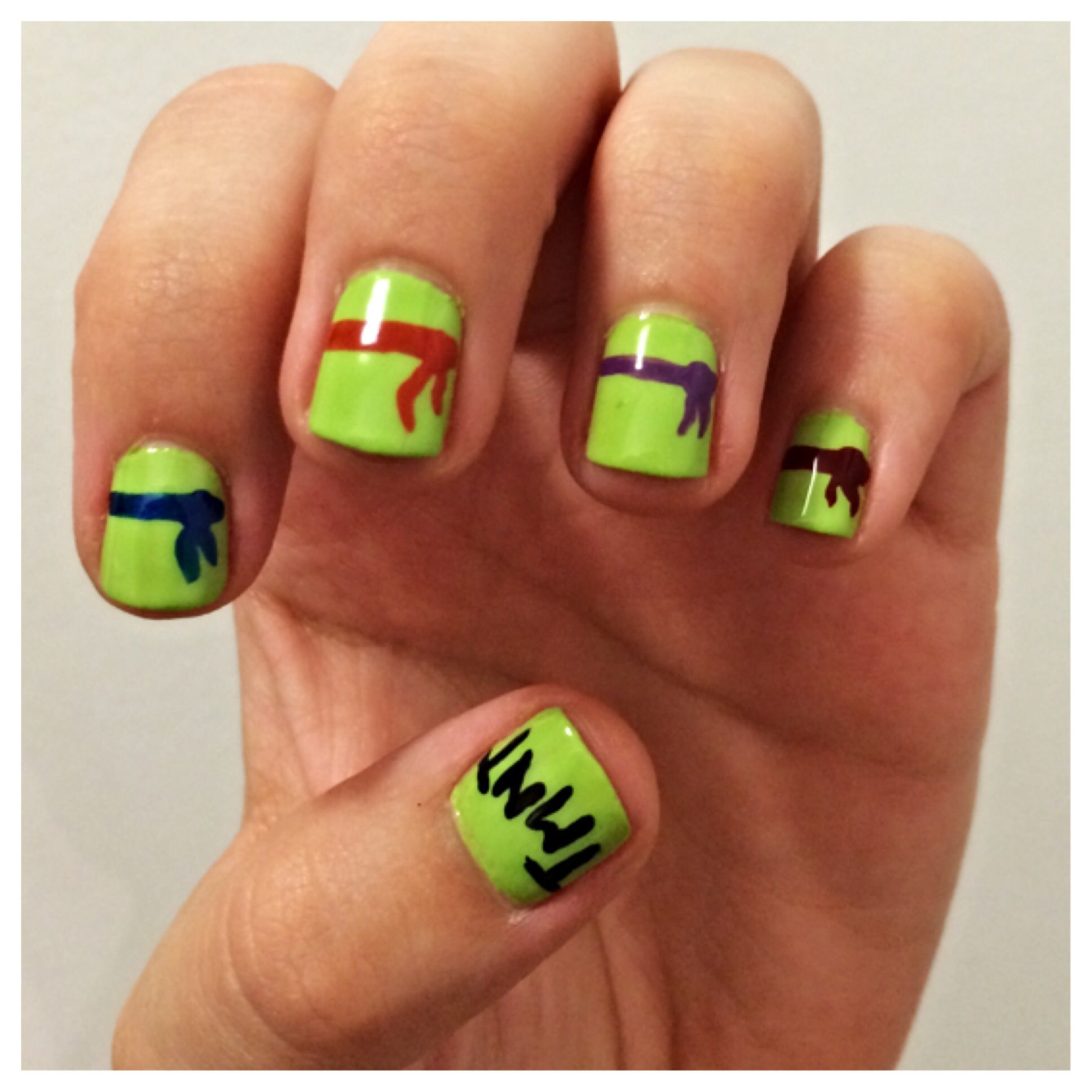 Ninja turtle nails! | nail art | Pinterest | Ninja turtle nails ...