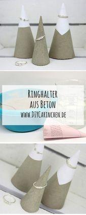 #Beton #DIY #einfach #Ideas #Ringhalter #Schmuckaufbewahrung #Selbermachen #Tolle #beton #DIY #Einfach #Ringhalter #Schmuckaufbewahrung #bijouxbricolage