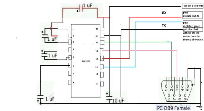 Circuit Diagram Of Max232 Based Rs 232 To Ttl Logic Converter Circuit Diagram Pic Microcontroller Card Reader