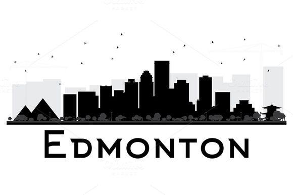 Edmonton City Skyline Silhouette Creative Web Design Simple Website Design Web Layout Design