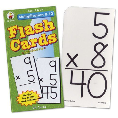 Low Vision Multiplication 0 12 Flash Cards By Carson Dellosa 7 49 For Ages 8 And Up Ninety Four Flashcards How To Memorize Things Multiplication Flashcards