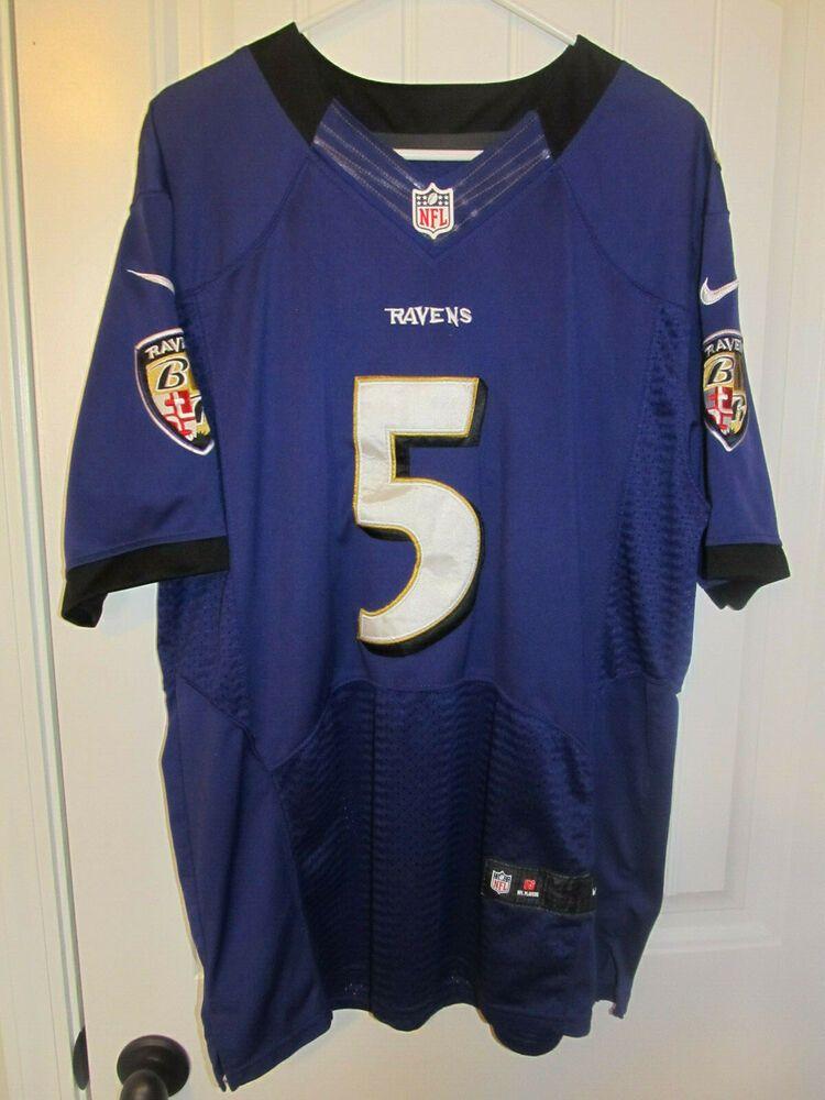 outlet store c30a2 71fb8 Joe Flacco - Baltimore Ravens Nike Purple Elite Authentic On ...