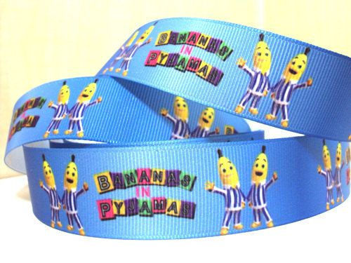 3 Yards Bananas In Pyjamas Grosgrain Ribbon 1 by Ribbonology, $4.00