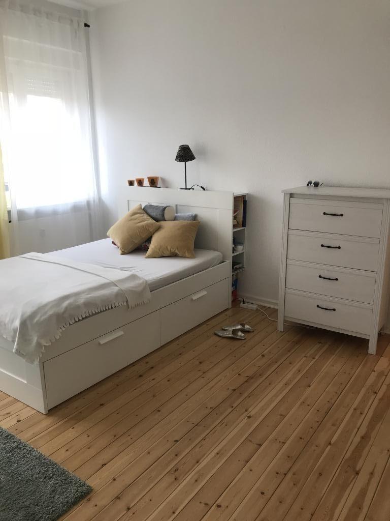 Schönes Zimmer Mit Bett Und Gepflegtem Dielenboden. #inspiration #wgzimmer  #zimmer #wohnung