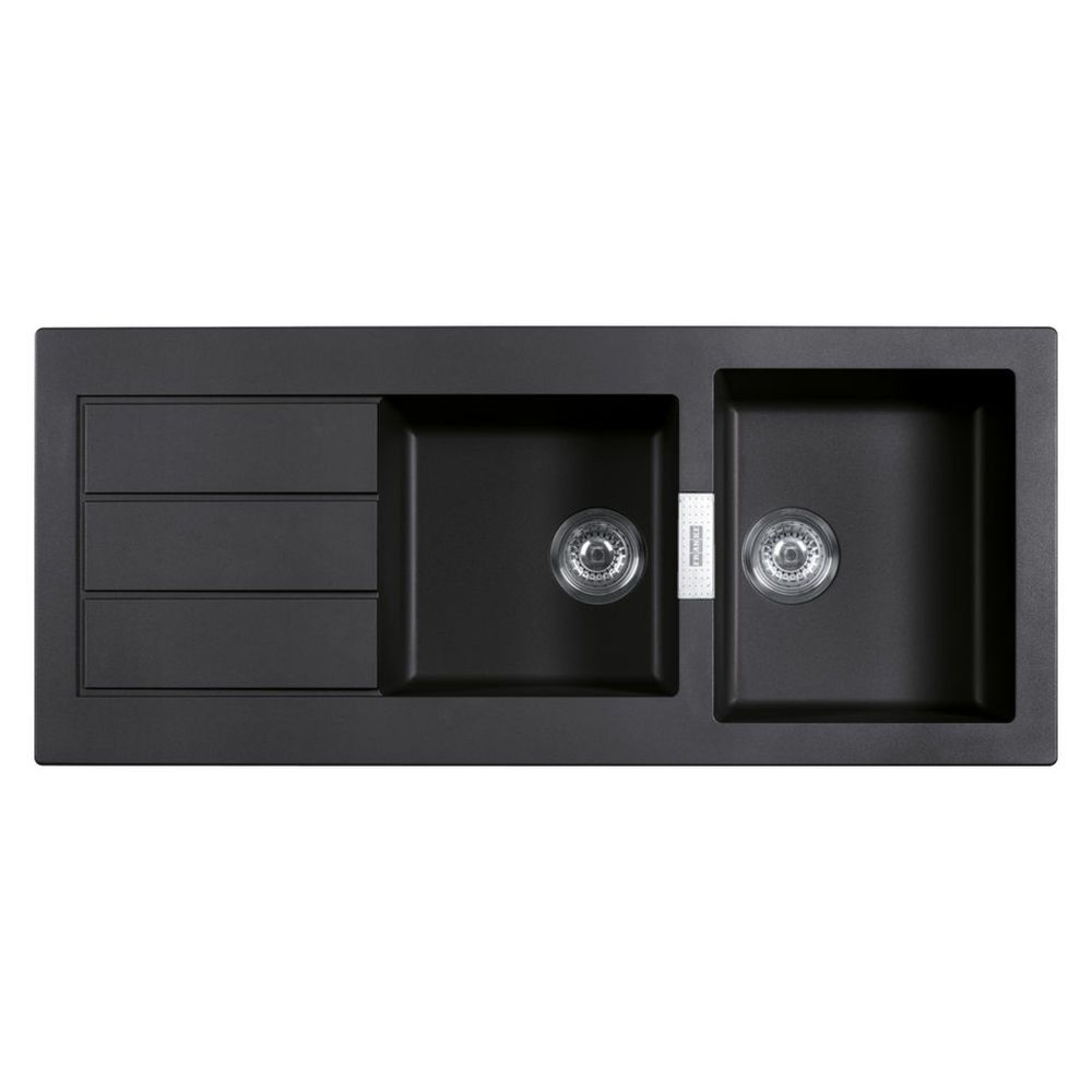 Franke Black Kitchen Sink: Franke 2 Bowl Inset Sink 1.75 Bowl Black