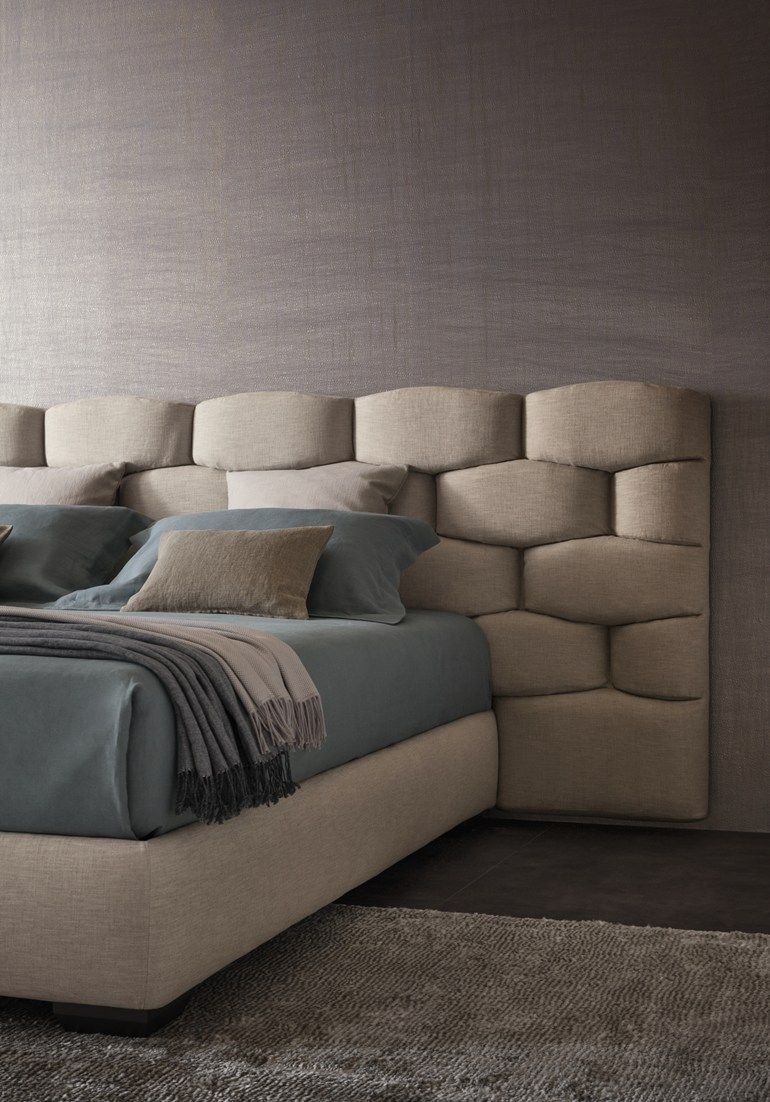Schlafzimmer Set Rachid Double Bed With Upholstered Headboard Majal By Flou Design