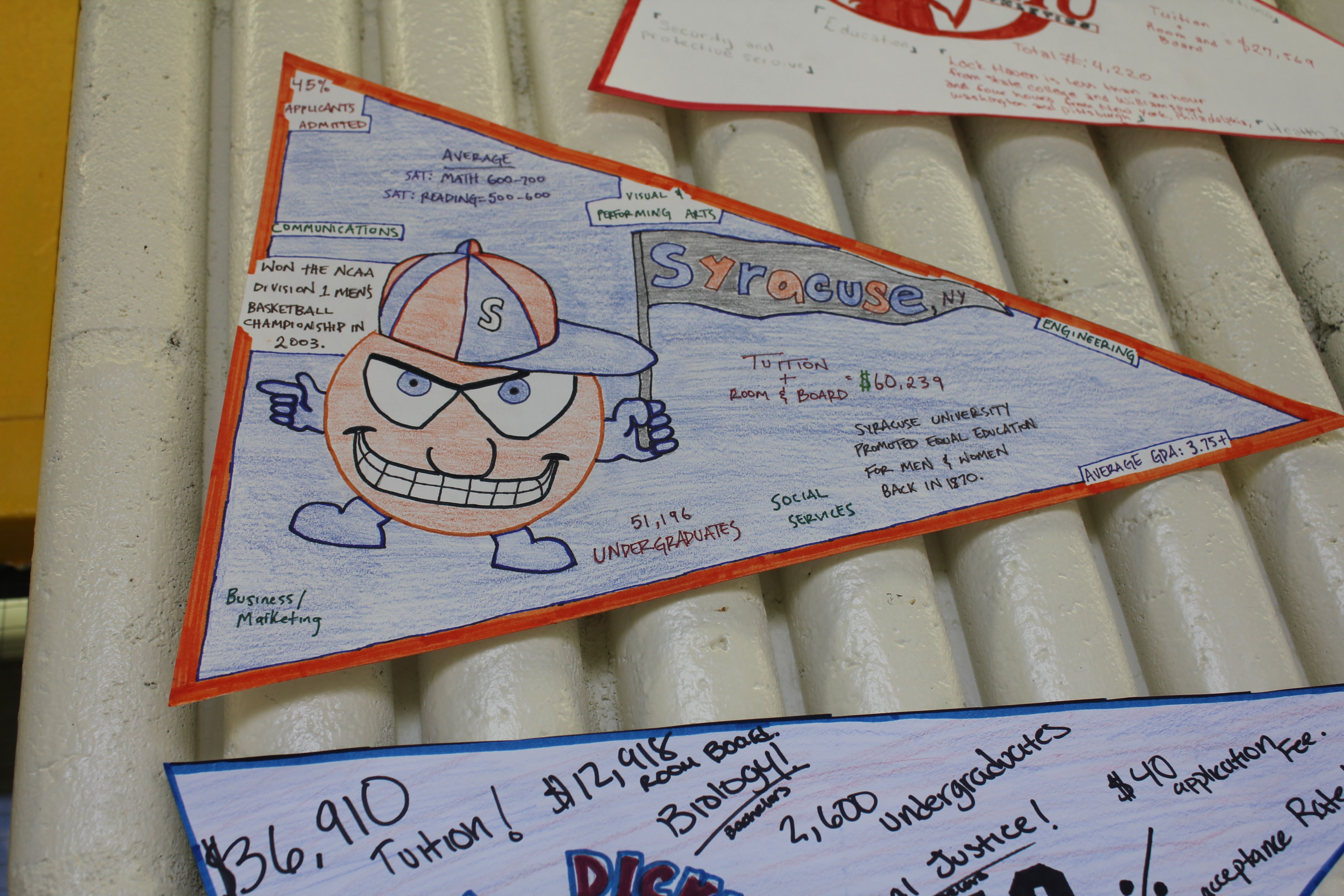 College Research Pennant Project With Worksheet With