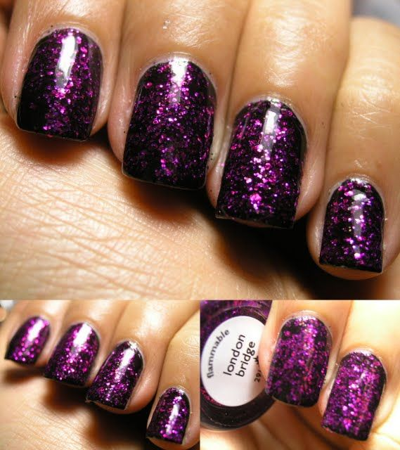 70 Ideas Para Pintar O Decorar Uñas Color Púrpura – Purple Nails ...