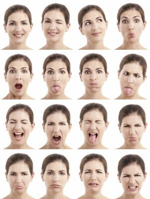 A Woman Shown Going Through Several Different Moods