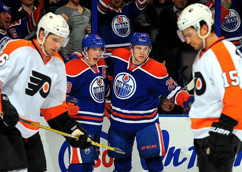 "edmontonoilers: ""VICTORY!  #Oilers double up #Flyers 4-2! #OilCountry"""