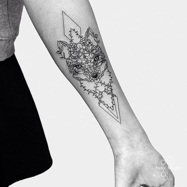 Geometric Tattoo In Moscow Tattoos Geometric Tattoo Fox Tattoo