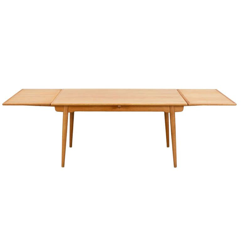 Extendable Dining Table In Oakhans Jwegner  Extendable Prepossessing Dining Room Tables Expandable Decorating Design