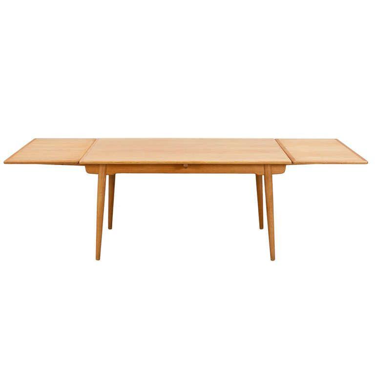 Extendable Dining Table In Oakhans Jwegner  Extendable Interesting Extended Dining Room Tables Inspiration Design
