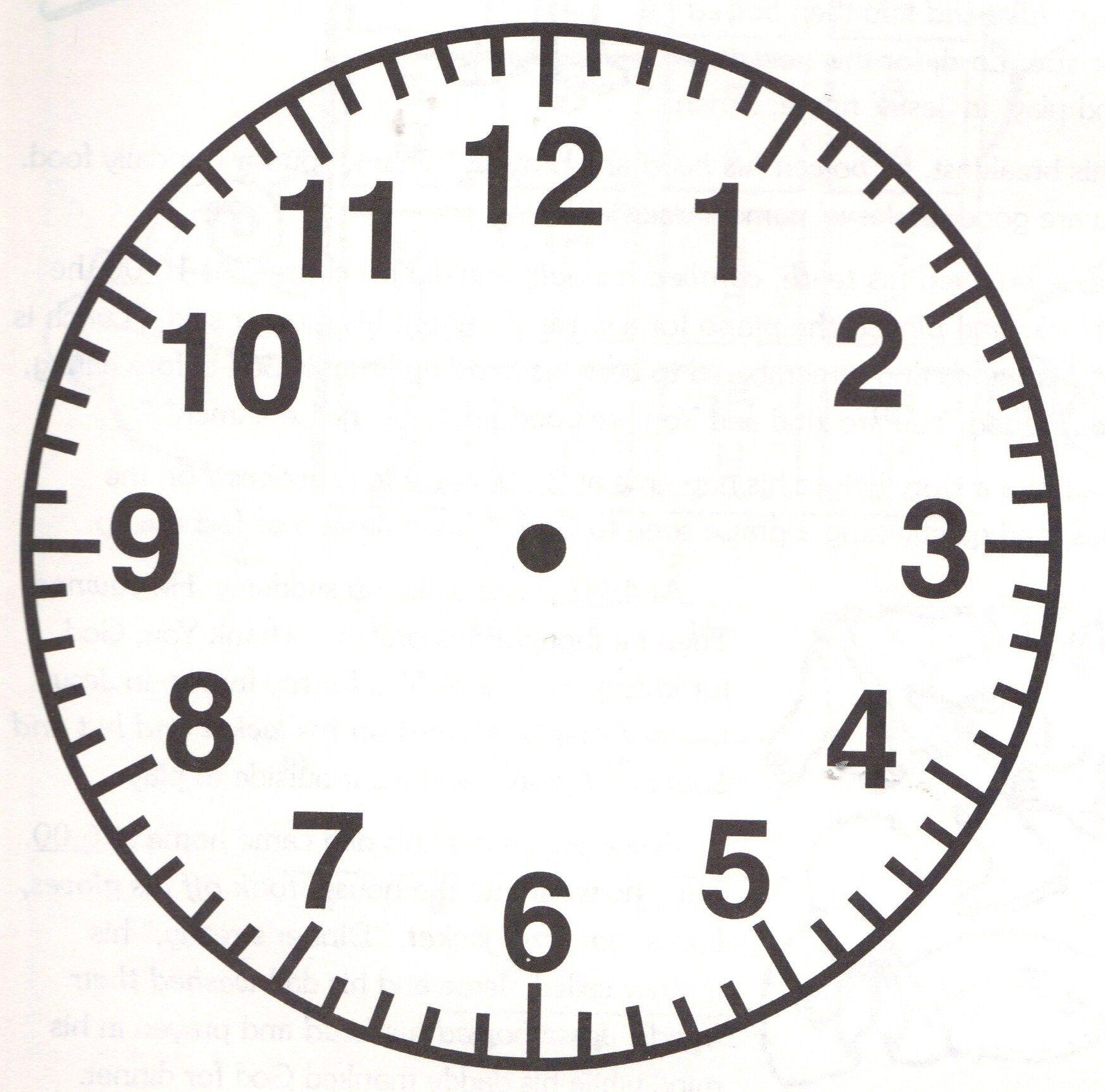 Image result for analog clock face | Education JP | Blank