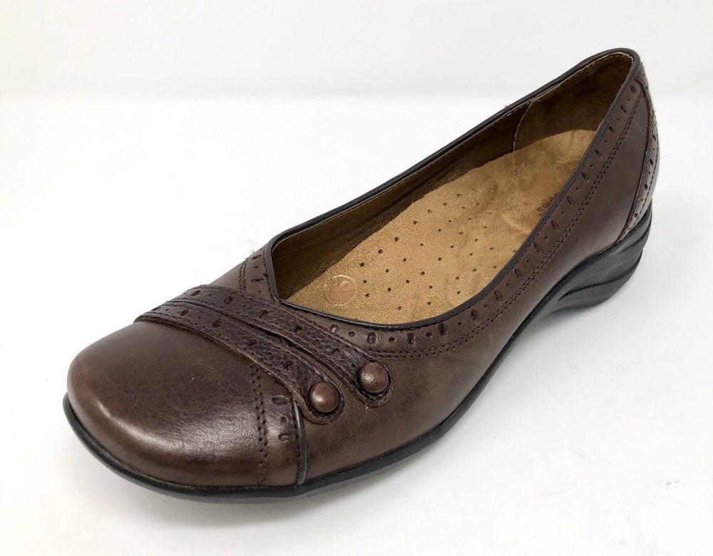 Hush Puppies Womens Size 11 M Burlesque Brown Leather Zero G Slip