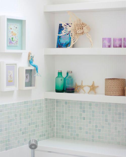 Awesome Elegant Bathroom Paint Colors Behr Bathrooms: Mermaid Bathroom - Love The Shadow Boxes!