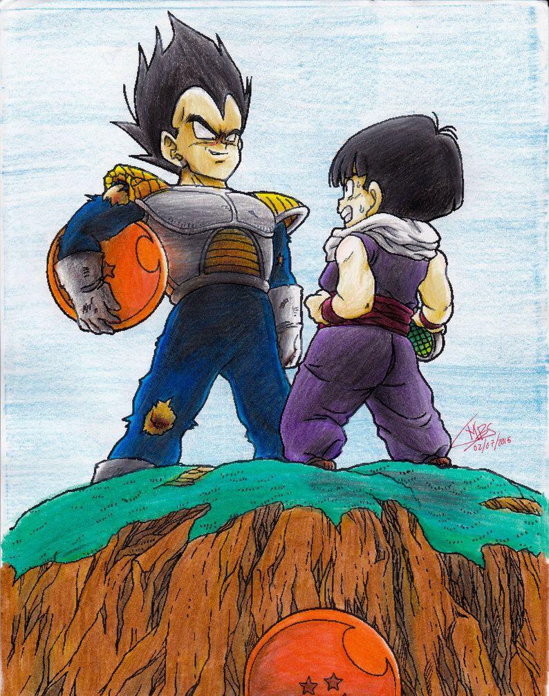 Gohan vs Vegeta en namek Dibujo de goku, Dibujos, Goku