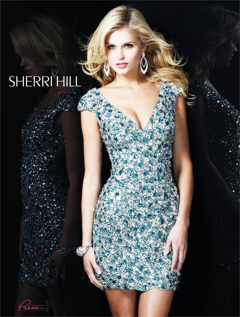 Sherri Hill 3751 Fully sequined with cap sleeves #homecoming ...