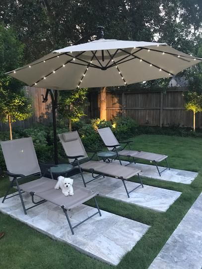 Hampton Bay 11 ft. LED Round Offset Patio Umbrella in ...