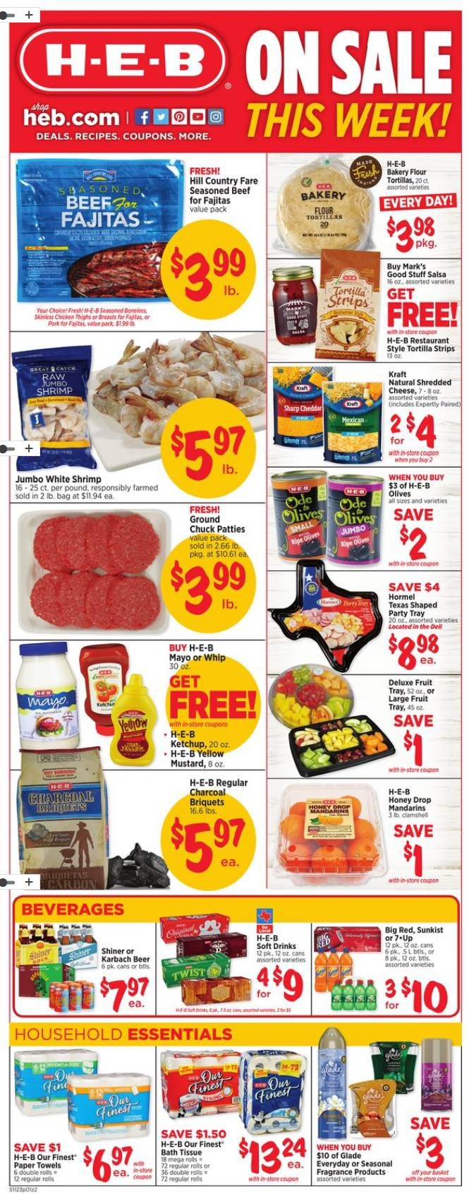 Search Current HEB Weekly Ad Flyer Here Valid November 23 27 2018 Find Great Prices Brands Services At H E B Try Curbside Grocery Pickup