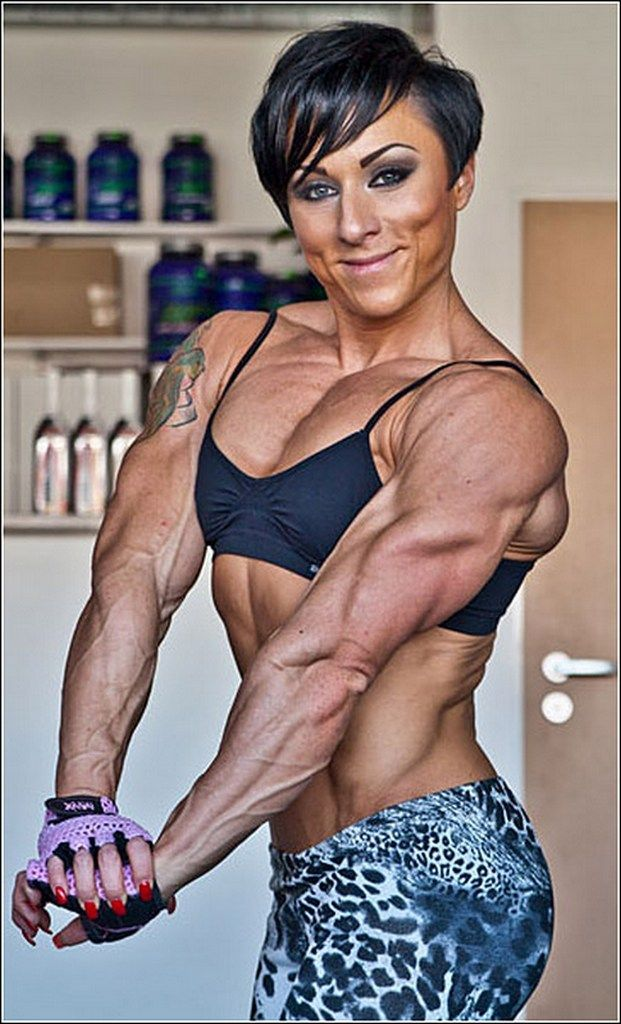 fucked girl gets Ripped muscle