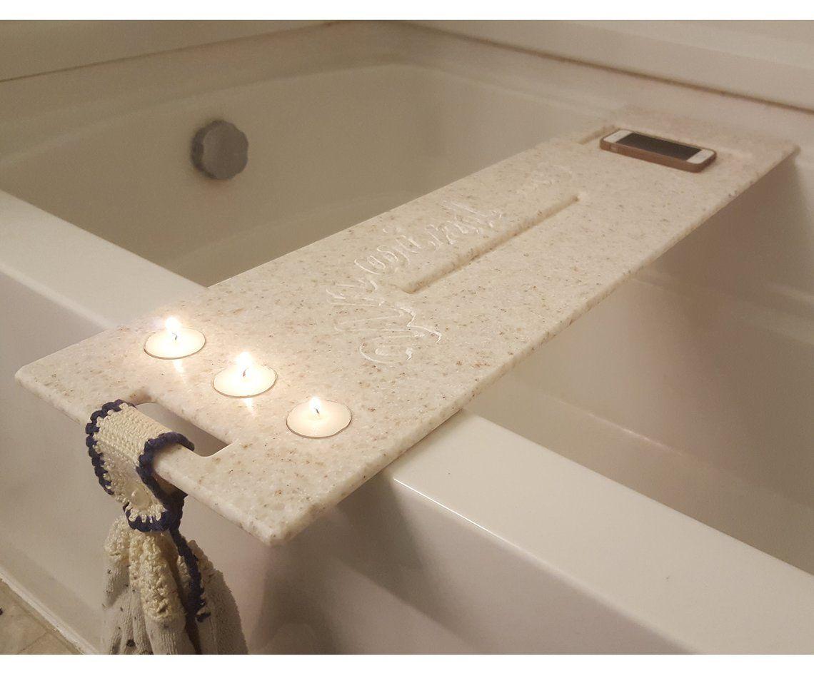Large 55 60 Bath Tub Tray Custom Made To Order Corian Caddy Tablet