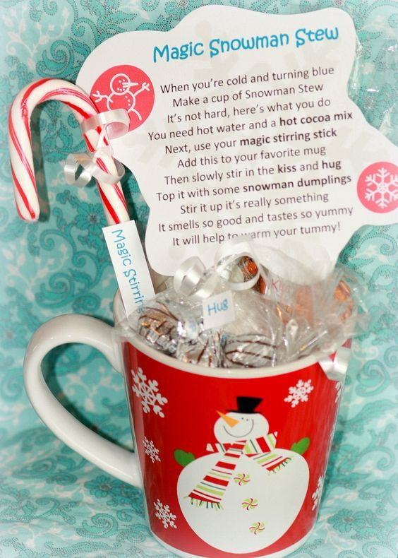 Magic Snowman Stew. Such a fun gift idea especially for children! Turn a simple cup of Hot Cocoa into a magical experience.
