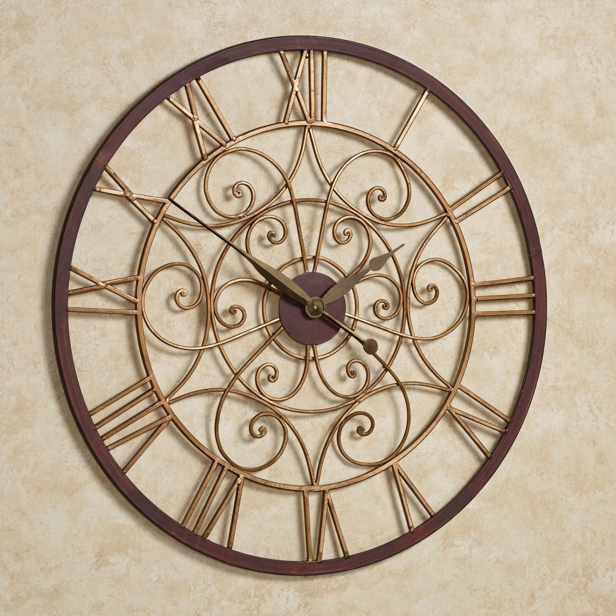 Ralston round metal wall clock wall clocks clocks and metal walls ralston round metal wall clock amipublicfo Images