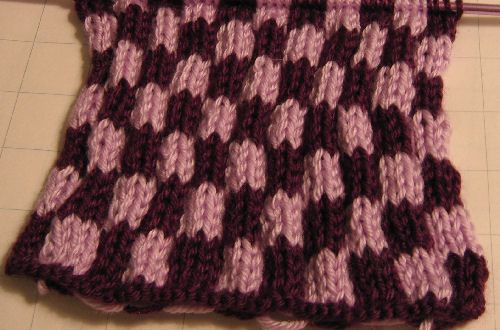 Try Knitting With Two Colors With This Simple Checkerboard Stitch