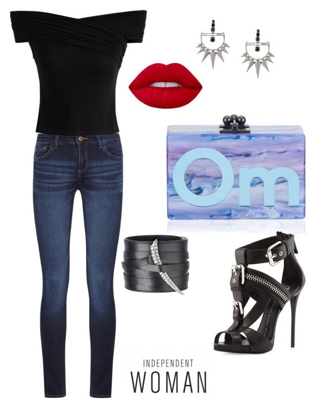 """""""151"""" by pipiolina on Polyvore featuring moda, DL1961 Premium Denim, Chicwish, Giuseppe Zanotti, Shaun Leane, Edie Parker, Elise Dray y Lime Crime"""