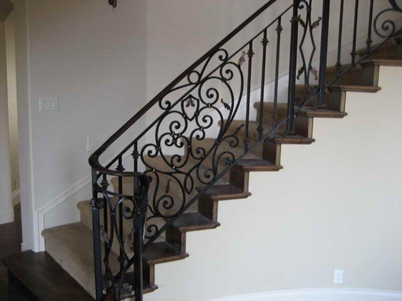 Indoor : Iron Fences Stair Railings Luxurious Iron Stair Railings Design  Wrought Iron Stair Railsu201a Guessu201a Outdoor Wrought Iron Stair Railing Plus  Indoors