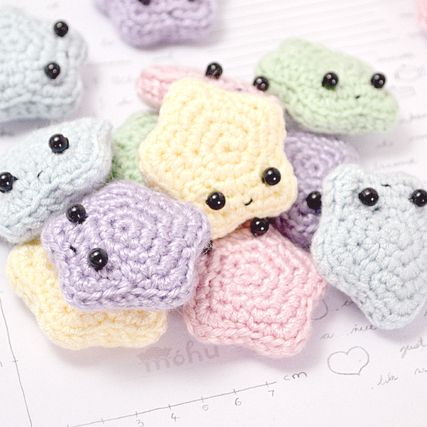 Mini Crochet Stars Knitted And Crocheted Decorative Items