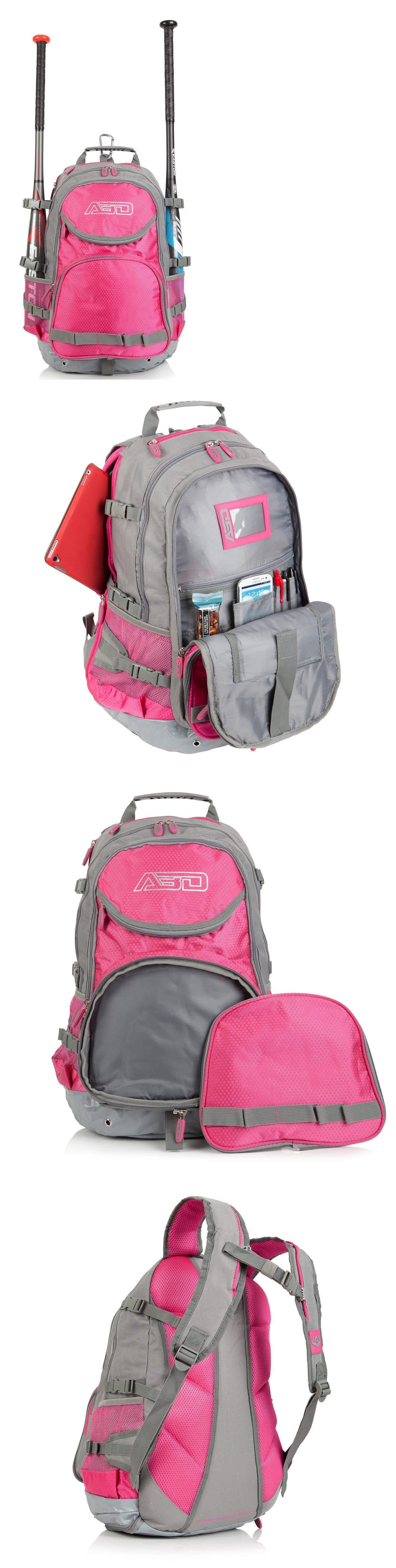 Equipment Bags 50807 Softball Bag Junior S Youth Bat Backpack For T Ballandsoftball Pink Gray It Now Only 25 99 On Ebay