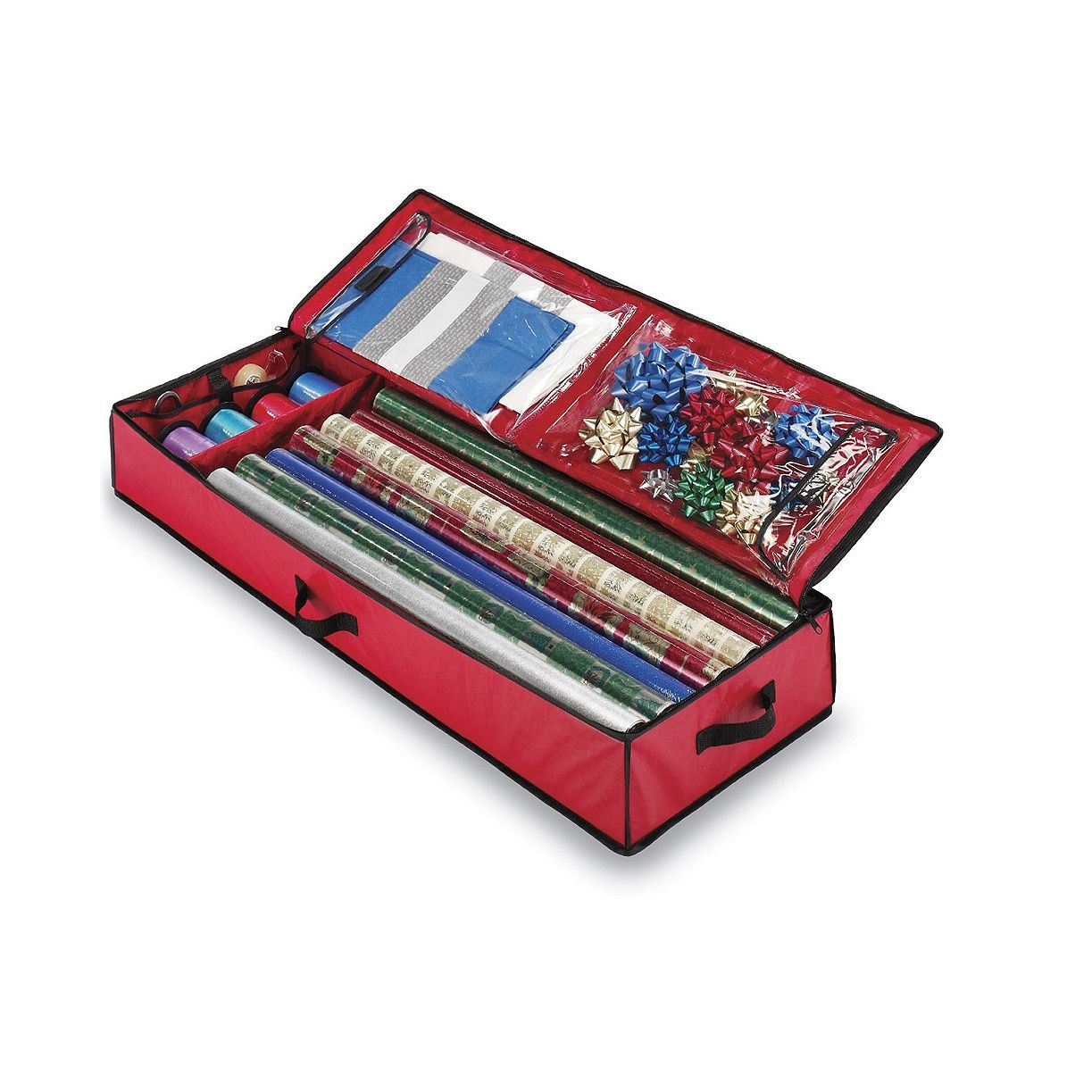 Store your Christmas wrapping paper and accessories in Whitmor's ...