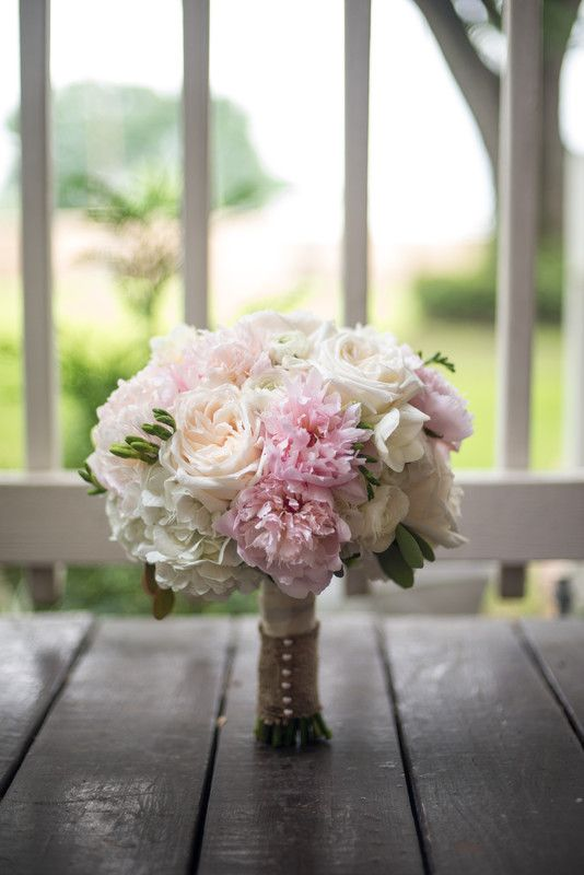 Pastel Pink Wedding Bouquet With Roses And Peonies 2 Cool Flowers Houston Area