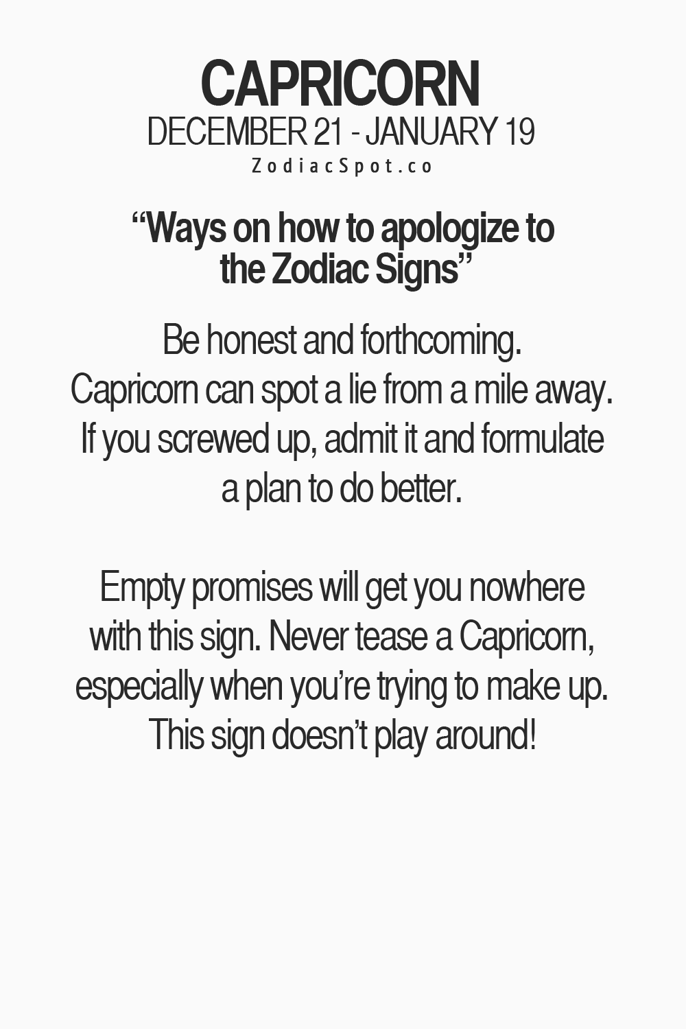How To Apologize To A #capricorn