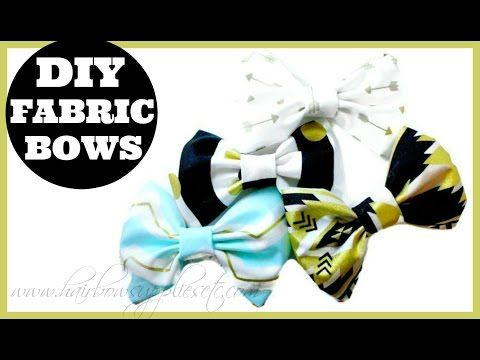 How to Make Fabric Hair Bows