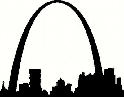 St louis silhouette vinyl decal car decal cityscapes decals the wall works