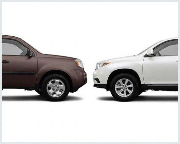 2014 Toyota Highlander Vs 2014 Honda Pilot Honda Pilot Compare Cars Toyota Highlander