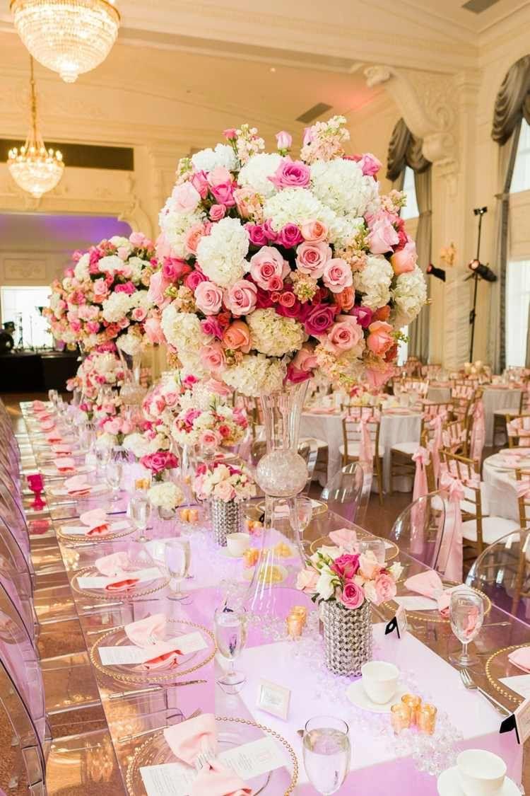 Compositions florales 77 id es pour la d co avec des for Decoration pour reception