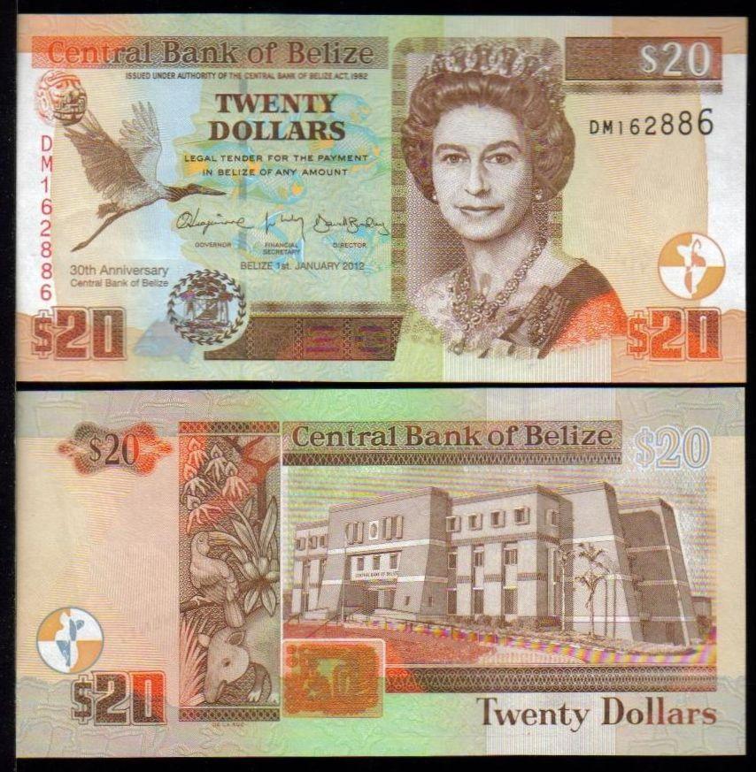 Belize dollars money belize