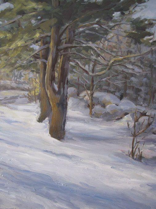 Snowy Woods Painting By Bvaa Member Beverly Tinklenberg Gallery