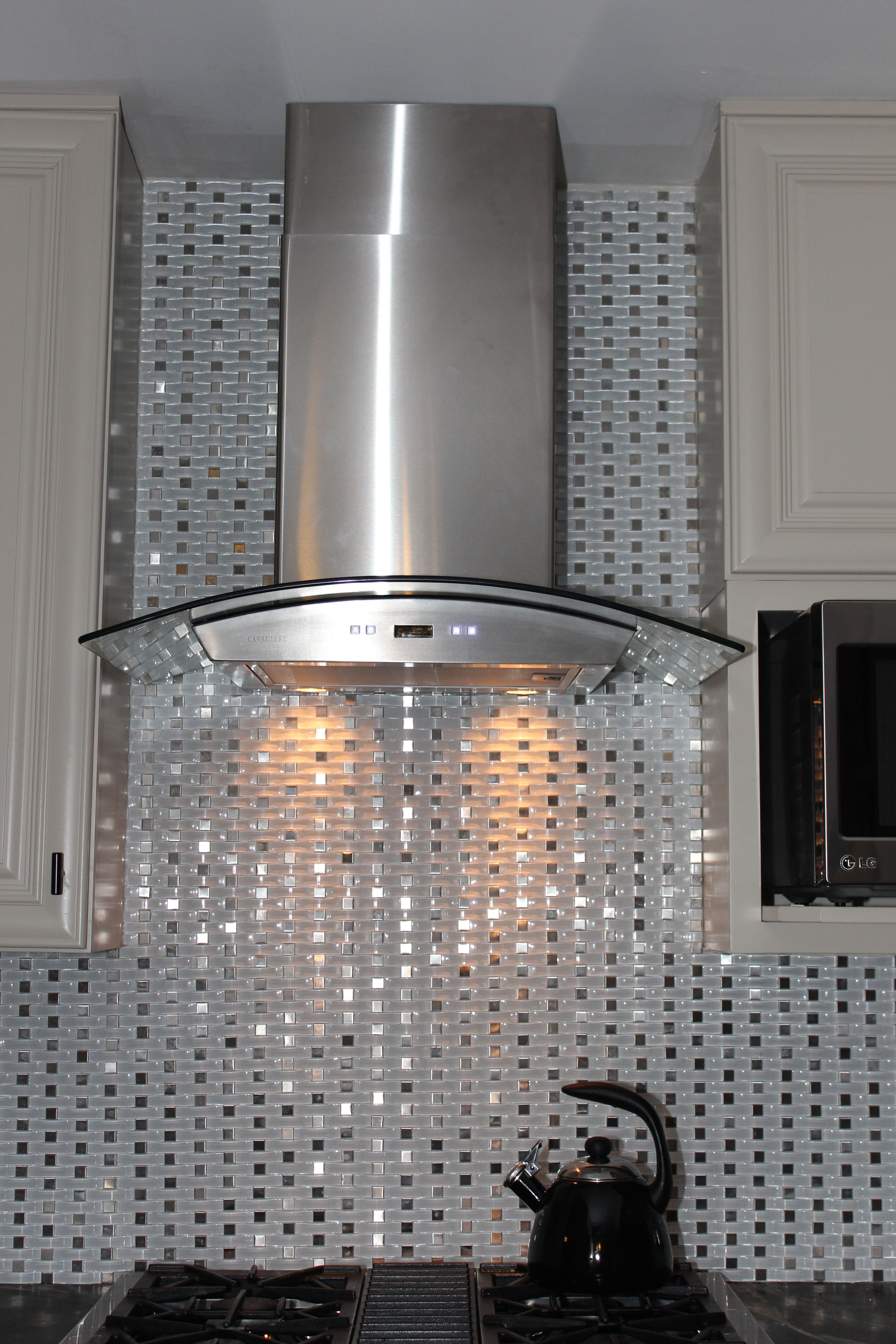 Tile Backsplash Behind Hood Vent Tile Backsplash Condo Design Backsplash