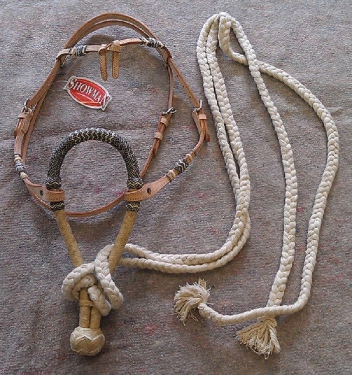 Showman rawhide bosal bridle ranch cowboy horse tack for Ranch occidentale