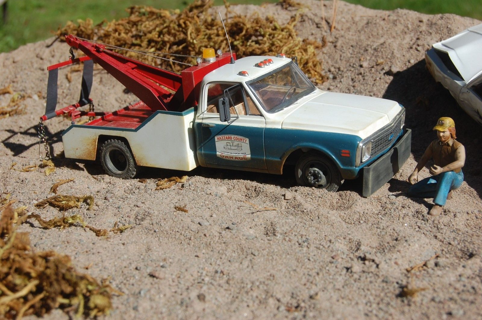 Built dukes of hazzard cooter\'s 72 chevy tow truck weathered ...