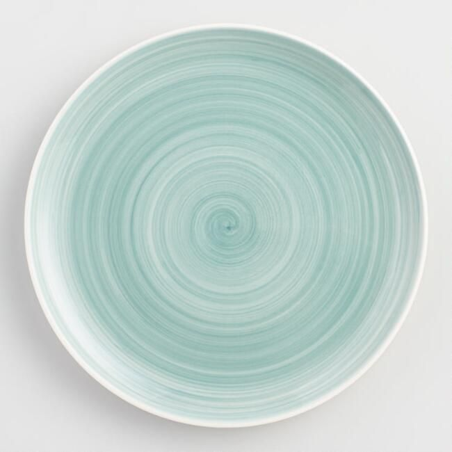 Aqua Spinwash Dinner Plates Set of 4 - $27.96 & Aqua Spinwash Dinner Plates Set of 4 - $27.96 | For the Home ...