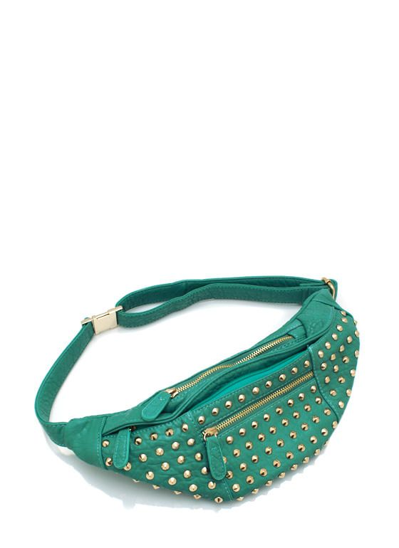 spike studded fanny pack